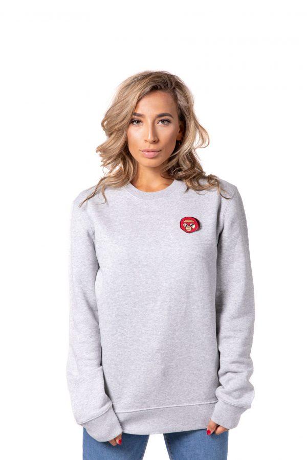 Bulan Kepala Sweater Grijs Vrouw Scaled