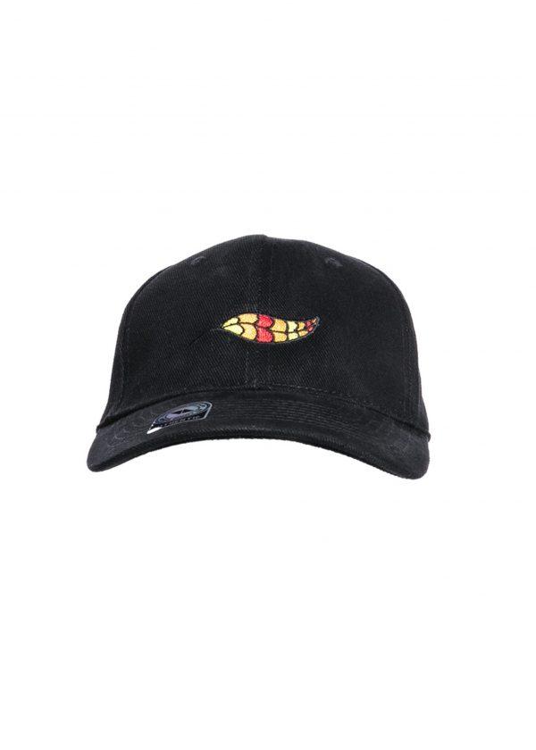 Bulu Cap Front Black Scaled
