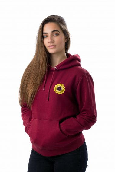 Teratai Hoodie Rood Vrouw Scaled